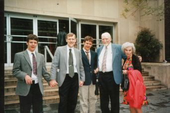 Olson-with son and grandsons at Church
